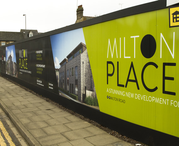 Milton Place Hoarding, Milton Road Cambridge